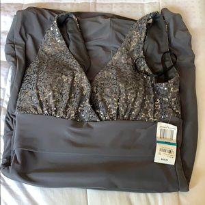 B darling gun metal dress 9/10